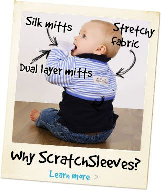 why ScratchSleeves - mittens for newborns & kids