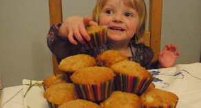 Dairy and Egg Free Muffins made with Apple Sauce – Yummy!