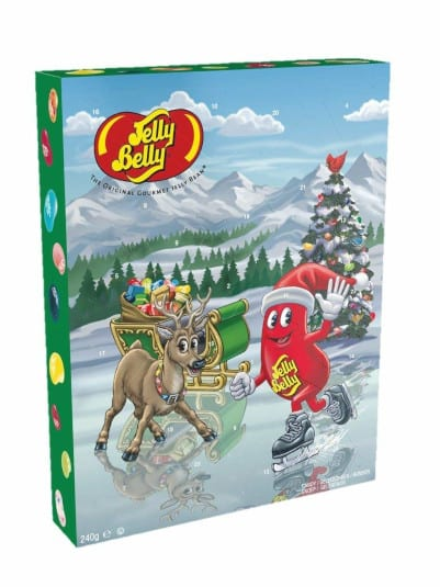 Jelly Belly Calendar: Dairy, egg, nut and wheat free. Do contain corn starch. Some flavours contain soy protein.