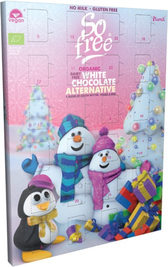Plamil White Chocolate Calendar: Dairy free, lactose free, gluten free, wheat free, egg free