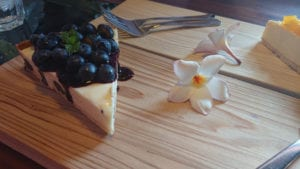Lemon 'Cheesecake' With Blueberry Sauce - dairy-free and egg-free recipe