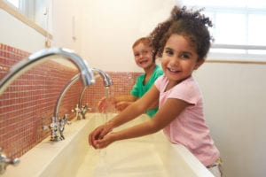 Hand washing and eczema