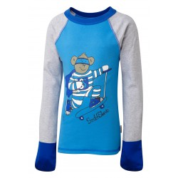 ScratchSleeves - Kingfisher SuperHero PJ tops for little kids and big kids - front view