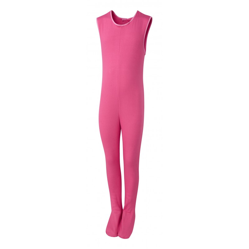 ScratchSleeves - Happy Pink SuperHero Dungarees for little kids and big kids - front view