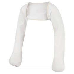 ScratchSleeves - Original Cream Scratch Mitts with Oatmeal Trim for little kids - front view