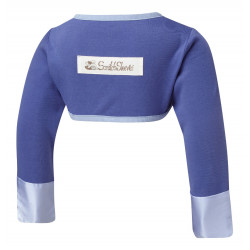 ScratchSleeves - Navy Scratch Mitts for toddlers with eczema - back view