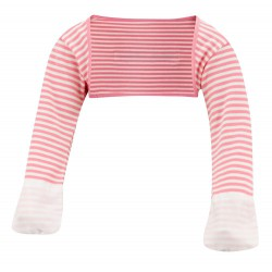 ScratchSleeves - Pink striped Scratch Mitts toddlers with eczema - front view